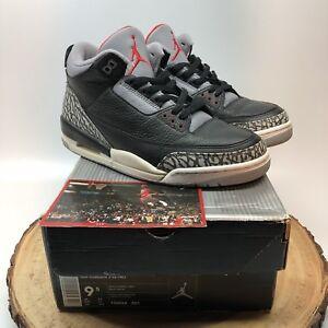 a9dc7fc497e5db 2001 Nike Air Jordan Retro III Black Cement BC3 Cracked Tabs 136064 ...