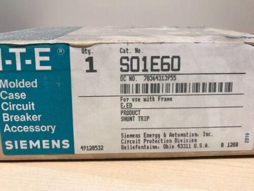 Siemens ITE S01E60 Shunt Trip Accessory NEW IN BOX
