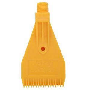 1//4BSP Male Thread ABS Round Shape Air Blow Off Flat Jet Nozzle Orange