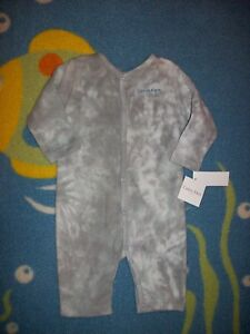 Calvin-Klein-Coverall-Romper-One-Piece-Layette-Size-6-9-Mos-Volcanic-Ash-22