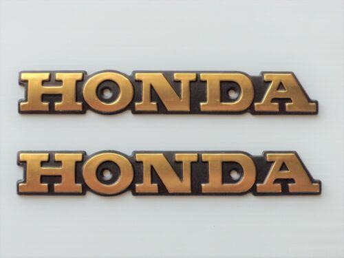 HONDA CG125 VINTAGE SIDE TANK BADGE EMBLEM METAL X 2 **UK STOCK**