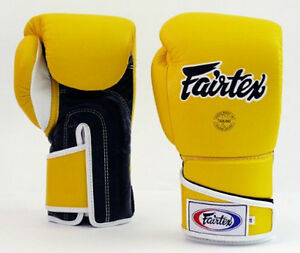 NEW-Fairtex-BGV6-Boxing-Gloves-Yellow-amp-Black-Muay-Thai-Kickboxing-MMA-UFC