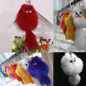 Details about New Lovely Faux Fox Fur Bird Bag Key Chain Cell Phone  Keychain Pendant Charm Toy 24d21bd726