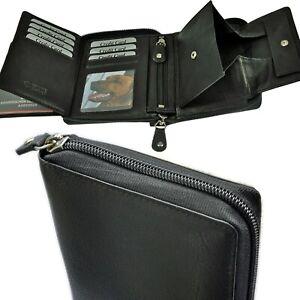 AMARI-Geldboerse-RFID-Schutz-3-Scheinfaecher-Geheimfach-grosses-Schuettfach-Herren