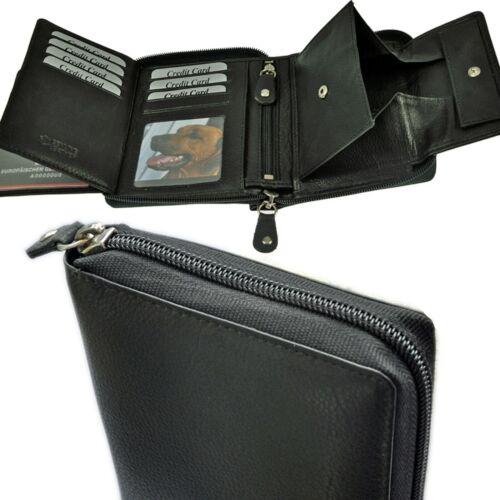 AMARI Geldbörse RFID-Schutz 3 Scheinfächer Geheimfach großes Schüttfach Herren