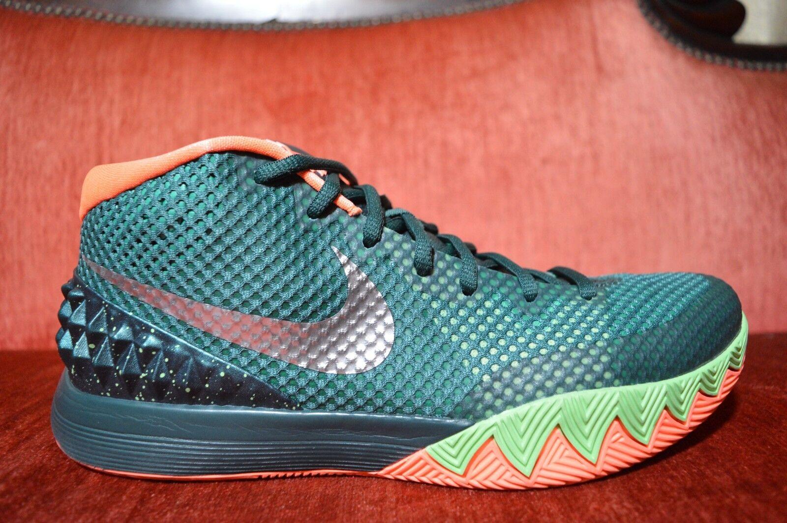 Nike Kyrie 1 Venus Flytrap 705277-313 Emerald Green Silver Basketball Size 9.5