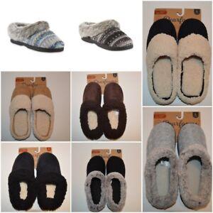 NWT-Dearfoams-Women-039-s-Clog-Slipper-Black-Brown-Gray-Tan-Blue-Sizes-S-L-XL