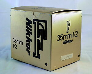 empty-box-for-Nikon-35mm-f2-0-F-Nikkor-lens-Ai-with-foam-insert-vintage