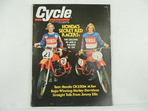 Vintage Oct 1975 CYCLE Magazine Honda CR250M Harley-Davidso<wbr/>n Suzuki RM250 L4610