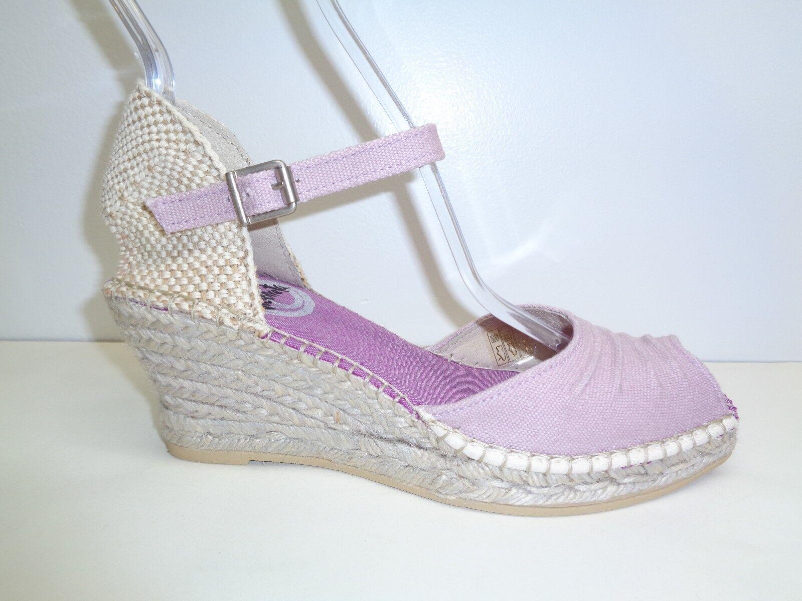 Vidorreta Größe 5.5 to 6 Eur 36 DAYNA Lilac Canvas Wedge Sandales NEU Damenschuhe Schuhes