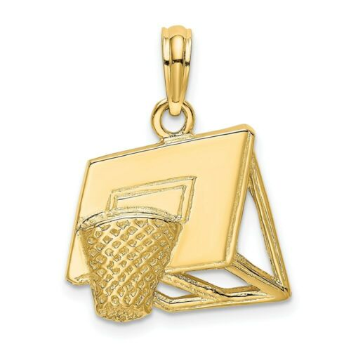 Details about  /14K Yellow Gold Basketball Hoop Charm Pendant MSRP $346