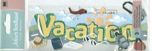 VACATION Travel Trip Relax Airplane Stickers Scrapbook U PICK