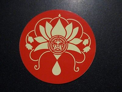 "SHEPARD FAIREY Obey Giant Sticker 2.5/"" CIRCLE RED ANDRE LOTUS from poster print"