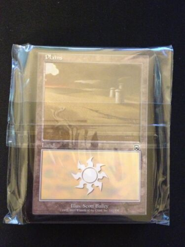 SAME ART 20 Basic Land #332 Mercadian Masques-SP//NM- Magic MTG FTG Plains