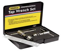 General Tools 165 Professional Reversible Ratchet Tap Wrench Set 0 - 1/2 Taps