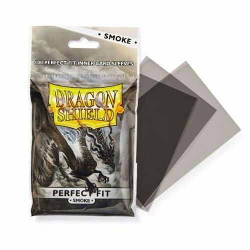 Perfect Fit Deck Protector Sleeves AT-13023 Dragon Shield 100 Smoke
