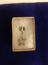 DOUBLE SIDED BEADED STAR CHARM SPACER FITS EUROPEAN CHARM BRACELET