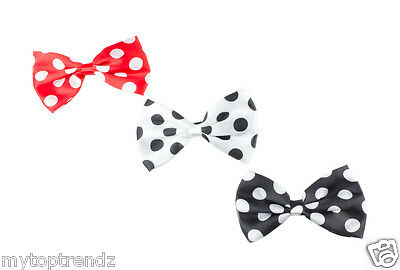 3 Piece Black Bow Motif Alice Hair Band and Bow Beak Clips Slide Set Accessories