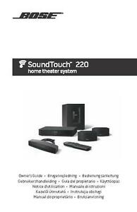 bose soundtouch 220 home theater system owners manual user guide rh ebay com SoundTouch Bose 10 bose soundtouch 20 user guide