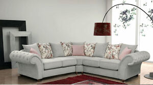Image Is Loading Chesterfield Fabric Roma Corner Sofa 3 2 1