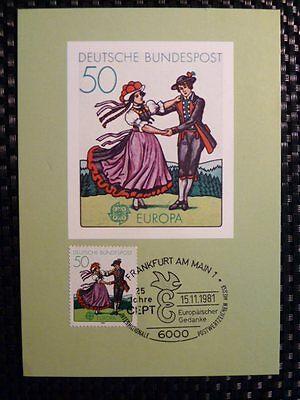Brd Mk 1981 Europa Cept Trachten Costumes Maximumkarte Maximum Card Mc Cm A8621 PüNktliches Timing Cept/europa Union & Mitläufer Briefmarken