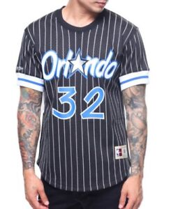 65834c08 NEW MITCHELL & NESS Orlando Magic #32 O'Neal Black MESH Crew-neck ...