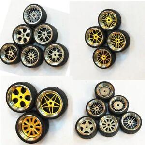 1-64-Scale-Alloy-Wheels-Custom-Hot-Wheels-Matchbox-Tomy-Rubber-Tires-D8X2