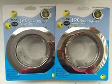 "2pcs 4.5"" Stainless Steel Sink Strainers for Kitchen Sink Drain Strainer"