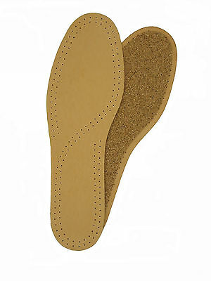 Leather & Cork Deluxe Insoles Tan Insoles Excellent In Cushion Effect Other Home Cleaning Supplies Home & Garden
