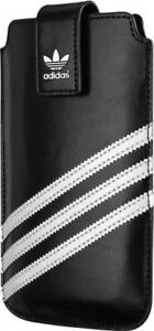 ORIGINAL-ADIDAS-POUCH-CASE-with-Magnetic-Clip-SIZE-XXL-67mm-x-133mm-BLACK-WHITE