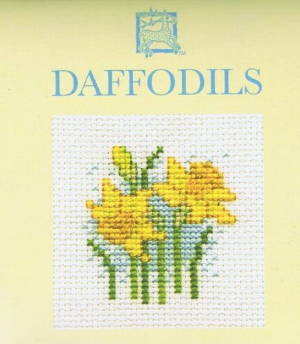 Daffodil Card Flower Counted Cross Stitch Kit