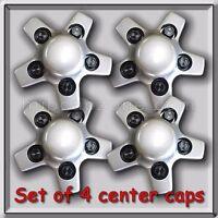 4 Silver 1993-2005 Chevy, Chevrolet S-10 Center Caps Hubcaps For Aluminum Wheel