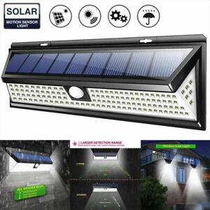 Outdoor Yard Lights LED Solar Power PIR Motion Sensor Wall Light Outdoor Garden Lamp Waterproof CZ Landscape & Walkway Lights