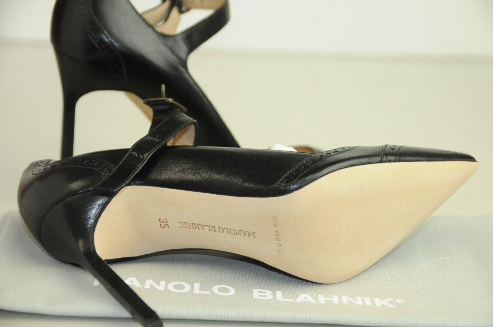 Neu Manolo Blahnik Bb Cabras 105 Schwarz Mary Mary Mary Jane Pumps Schuhe 35 37 38.5 39 27fc07