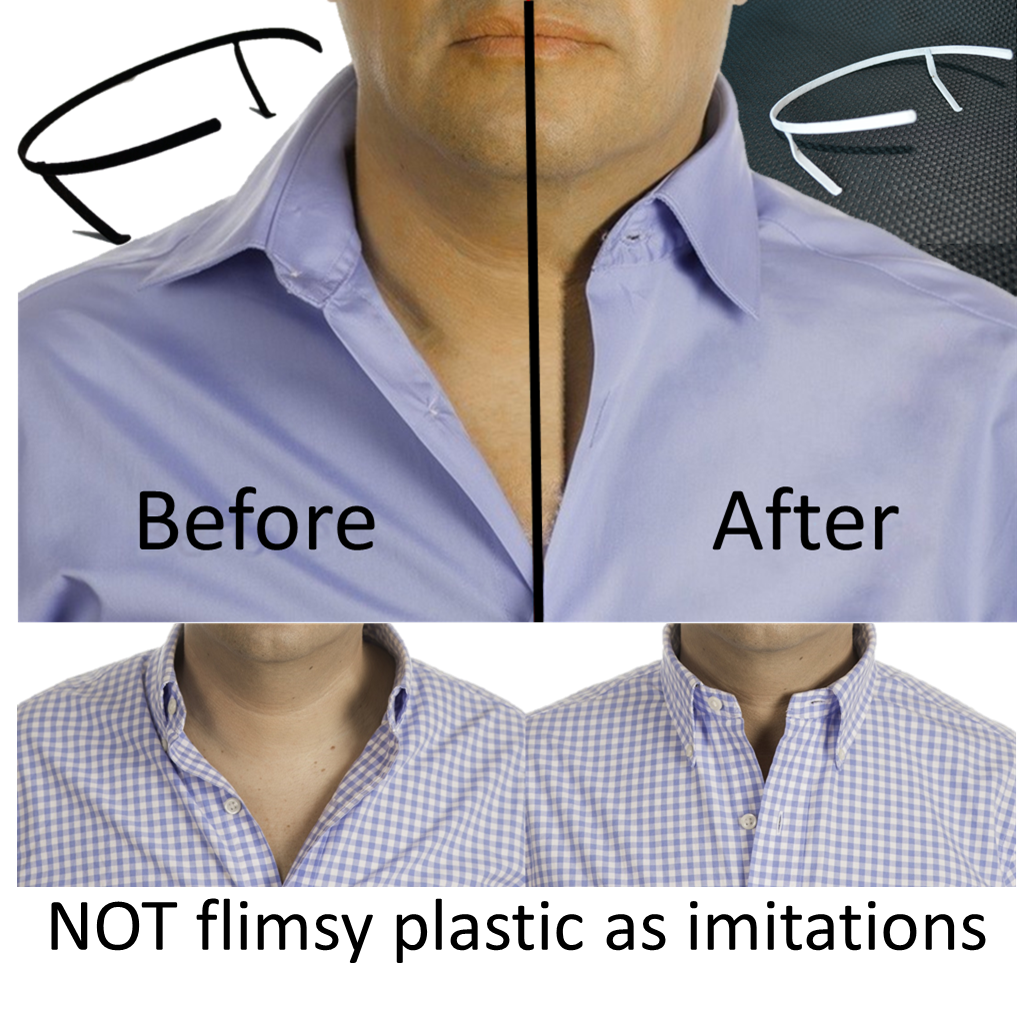 THE ORIGINAL Adjustable Shirt Collar Support   Collar Stays   Placket Stay