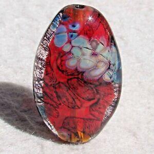 TEMECULA-Handmade-Art-Glass-Focal-Bead-Flaming-Fools-Lampwork-Art-Glass-SRA