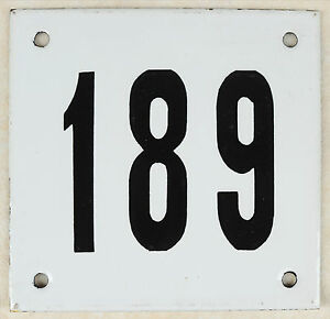 Image is loading Old-white-French-house-number-189-door-gate-