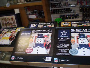 a5ae3830c16 Image is loading NFL-SNOWFAN-KIT-SNOWMAN-NIB-MAKES-A-GREAT-