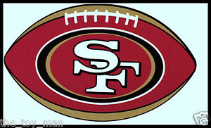 SAN-FRANCISCO-49ERS-OVAL-FOOTBALL-NFL-DECAL-STICKER-TEAM-LOGO-BOGO-25-OFF