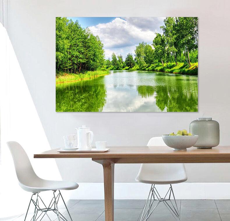 3D Grüne Dschungel Seeseite 854 Fototapeten Wandbild BildTapete AJSTORE DE Lemon