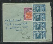 MAURITUS (P2006B) STAMP CENT 20CX4+5C ROSEHILL TO FRANCE