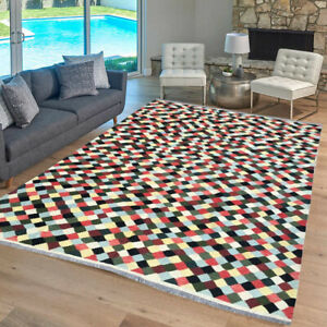 9847 Afghan Kilim Bedroom Rug Hand Knotted Wool Turkish Home Decor Rug 10x13 Ebay