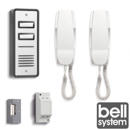 BS02 Audio de 2 Vías Sistema De Campana Intercomunicador Kit De Cerradura Eléctrica de teléfono de la puerta fuente de alimentación