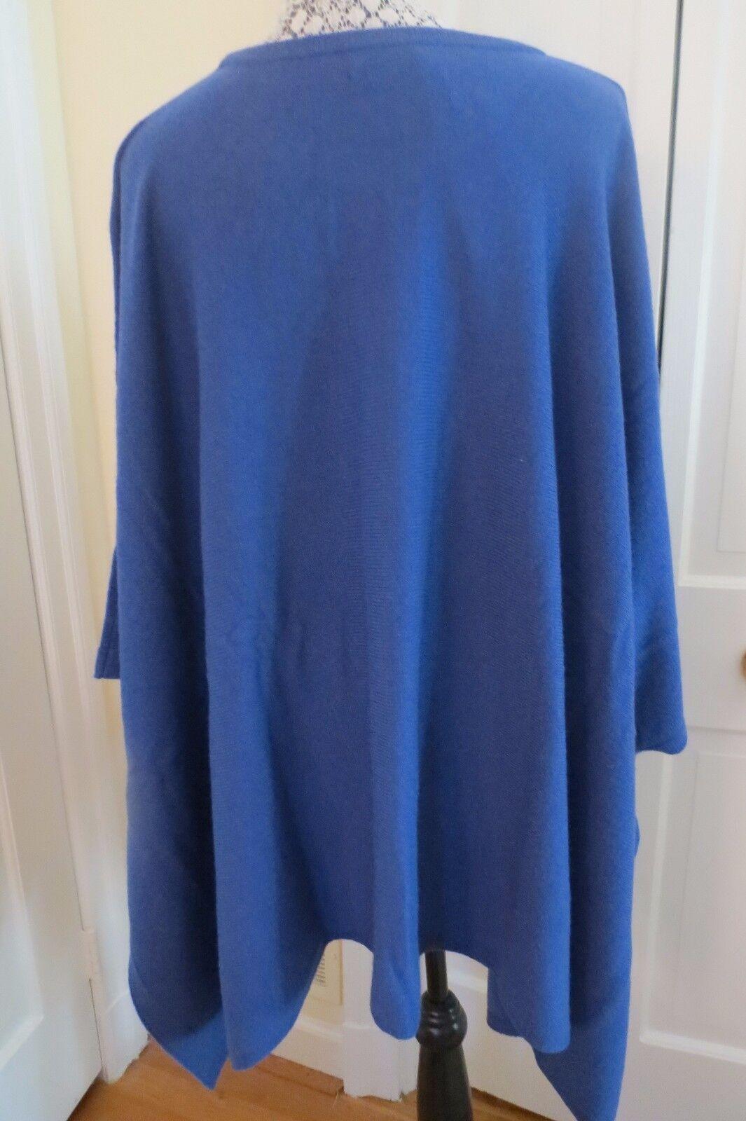 M.I.L.A. Gemma Gemma Gemma Cashmere Sweater Poncho - Sapphire bluee – NWT -  490 228b8e