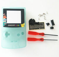 Gbc Nintendo Game Boy Color Housing Shell Screen Glow In The Dark Pikachu Usa