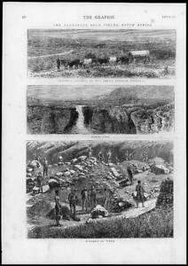 1875-Antique-Print-SOUTH-AFRICA-Transvaal-Gold-Fields-Pretoria-Sabie-G156