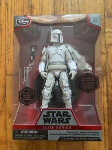 Star Wars Boba Fett White Prototype Armor Disney Store Elite Series Die-Cast