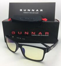 New GUNNAR Computer Glasses VERTEX 54-16 Onyx Black Frame w/ Amber Yellow Lenses
