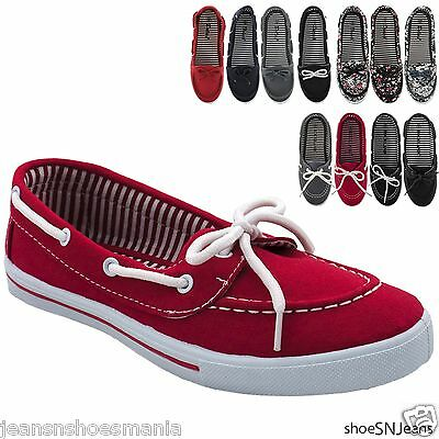 New Women Comfy Causal Slip On Round Toe Moccasin Flat Comfort Boat Loafer Shoes