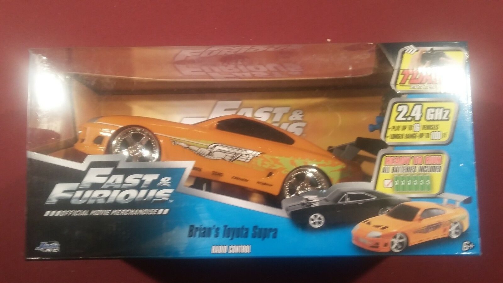Jada Toys Fast & Furious RC Toyota Supra Vehicle (1 16 Scale) orange (NEW)
